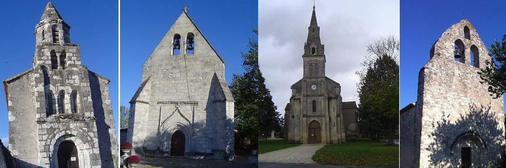 Eglises des 4 bourgs de la commune de Monestier en Dordogne